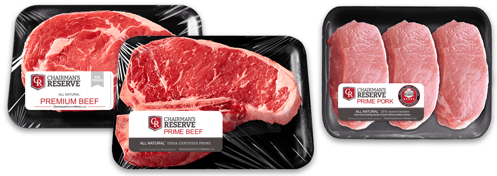 Chairman's Reserve Beef and Pork in packaging