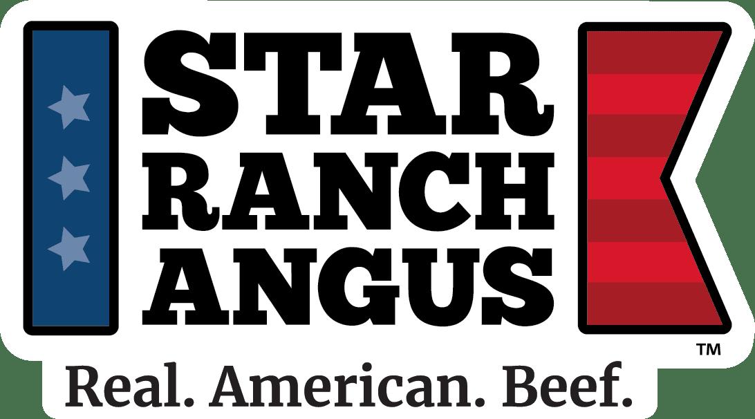 Star Ranch Angus Logo - horizontal - tagline - white background